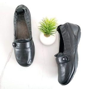 DANSKO Carol Black Leather Slip On Shoes Loafers